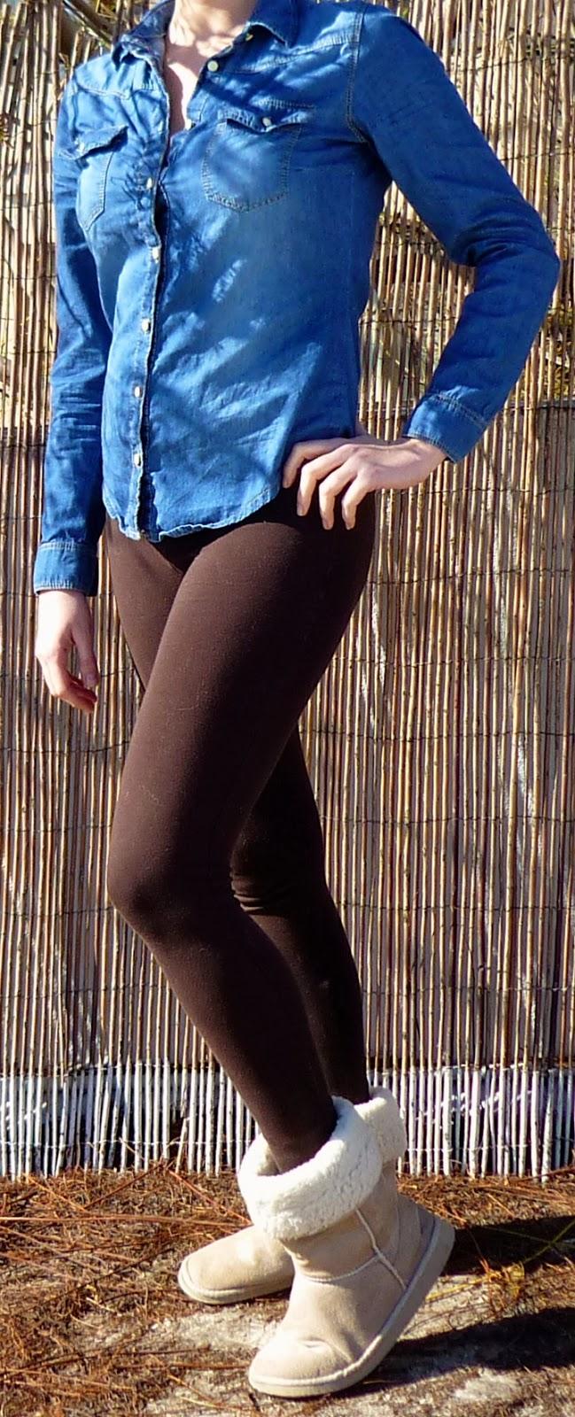 leggins marrones