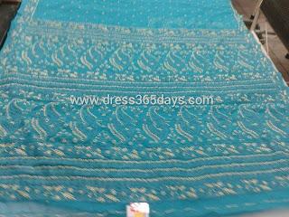Blue Designer heavy Chikankari Kurti unstitched material