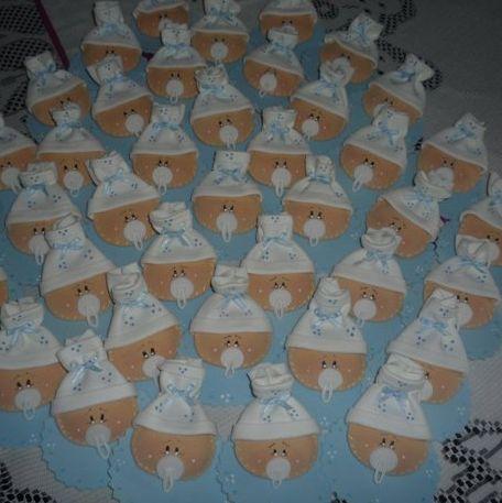 Corazondecolores: souvenirs en goma eva caritas de bebe :)