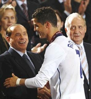 Cristiano Ronaldo and Silvio Berlusconi