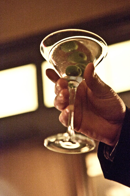 Greenwich Hotel Bar Moment with Martini Glass