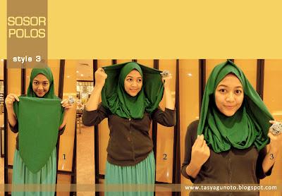 Tutorial Jilbab Sosor Polos Style 3