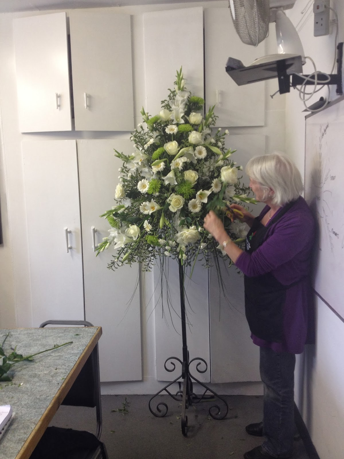 Kays flower school brooch bouquet training advanced bridal making a topiary tree arrangement izmirmasajfo Images