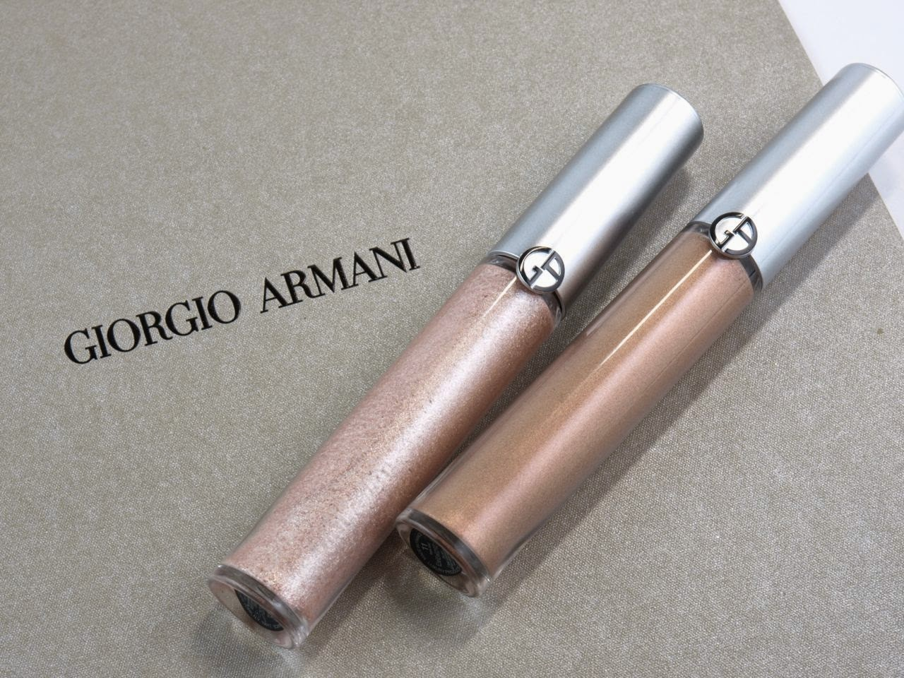 Giorgio Armani Eye Tint in #11 Rose Ashes & #12 Gold Ashes: Review and Swatches