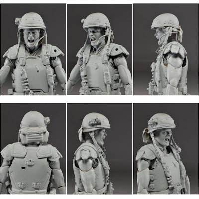 NECA Aliens Hicks Prototype Figure - Helmeted Version