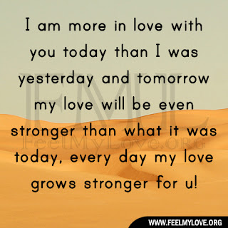 I am more in love with you today