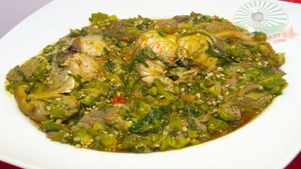nigerian okra soup,Nigerian food recipe, nigerian food recipes,Nigerian Food TV