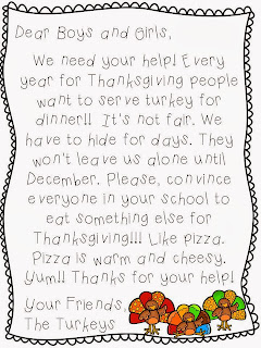 http://www.teacherspayteachers.com/Product/Dont-Eat-The-Turkey-Thanksgiving-Persuasive-Writing-Craftivity-391849