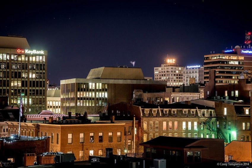 Portland, Maine November 2014 Night Skyline of the City photo by Corey Templeton