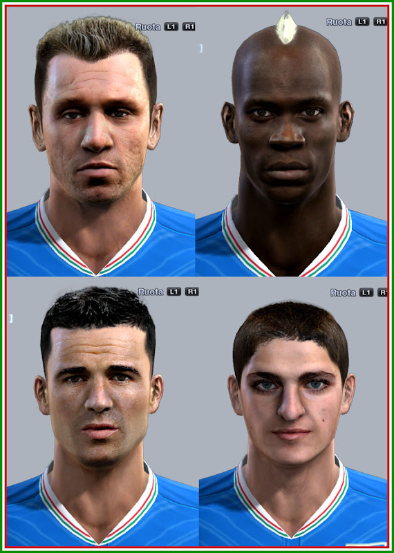 PES 2012 Italy Facepack by mitchel & Fanta