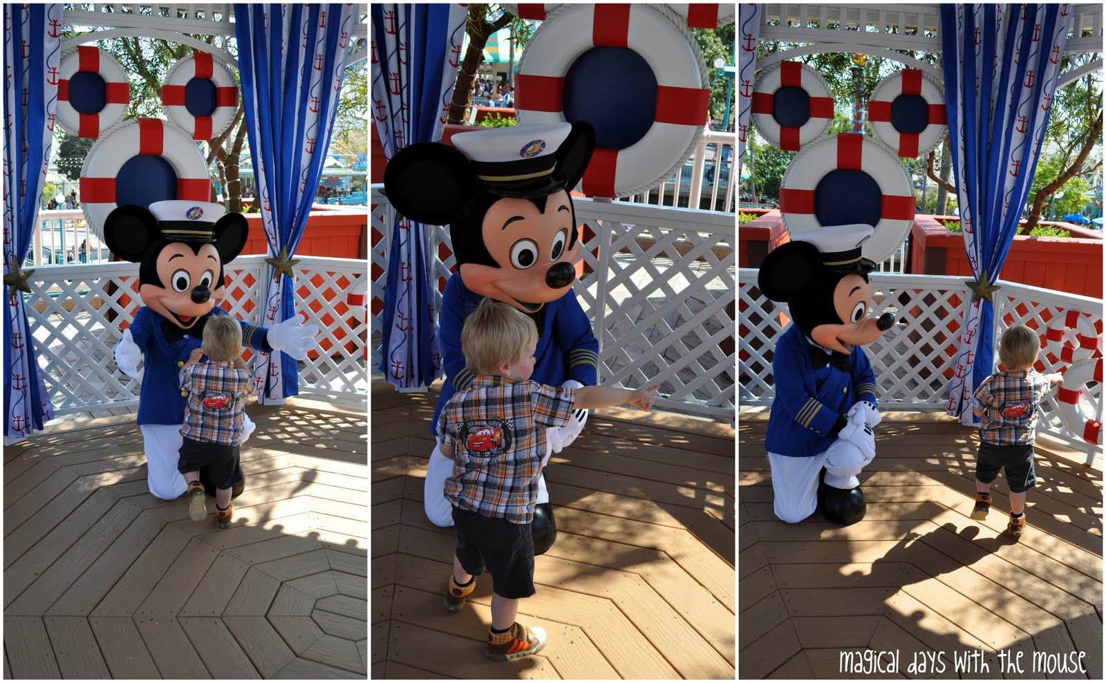 Little One showing Mickey the