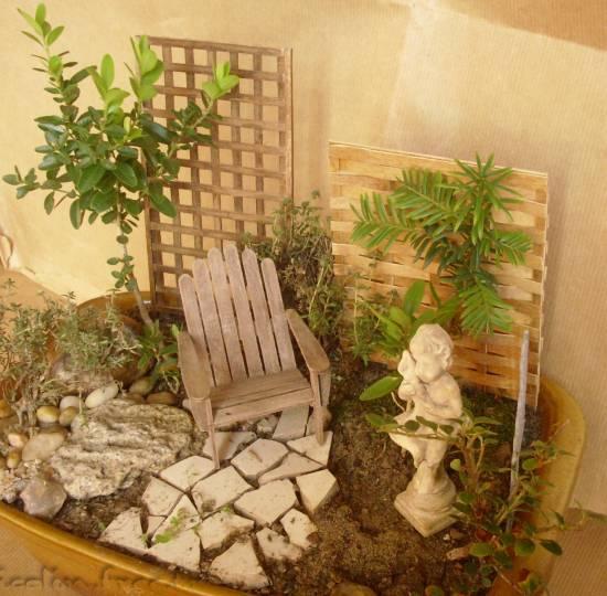 Jicolin minis jardin miniature for Pots en resine jardin