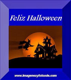 Feliz Halloween con Bruja Volando