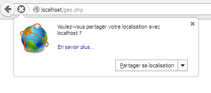 Géolocalisation HTML5