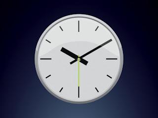 Une horloge.
