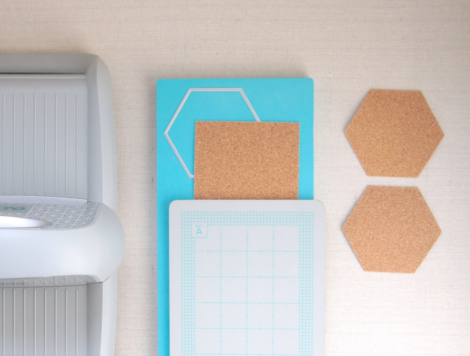 Hexagon Die Cuts // Lifestyle Crafts // Benzie Design