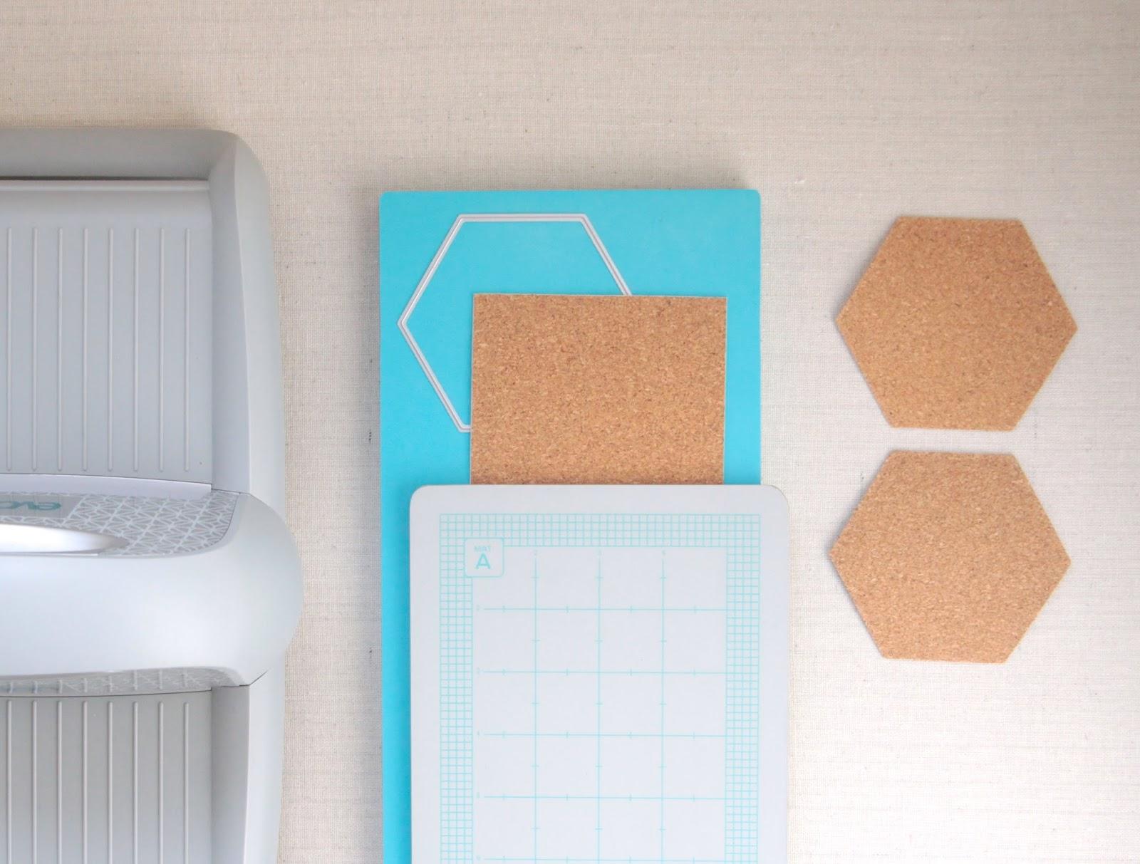 Hexagon Die Cuts // Lifestyle Crafts // Benzie Design