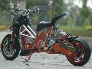 MOtor mio drag race simple keren