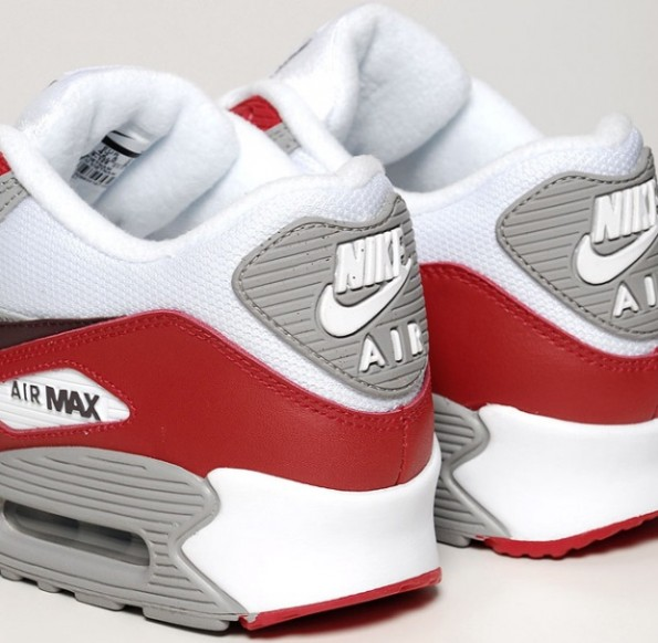 5a3fdbe160 Nike Air Max 90. White/Deep Burgundy-Varsity Red 309299 128 ~$154.38
