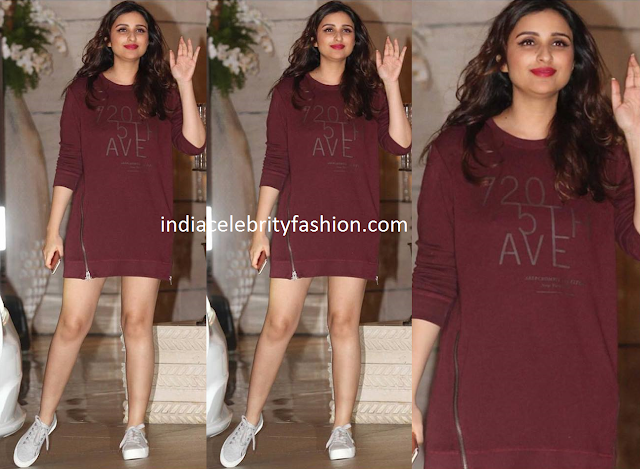 Parineeti Chopra in Casuals at Ambani Bash