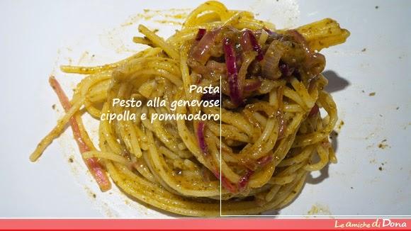ricette di pasta veloci e gustose gluten free: pasta con pesto alla genovese cipolla e pomodoro e pasta con i ceci e rosmarino