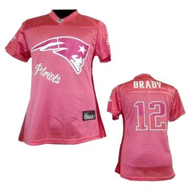 97886cbf76d NFL New England Patriots  12 Tom Brady Pink 2011 Fem Fan Jersey