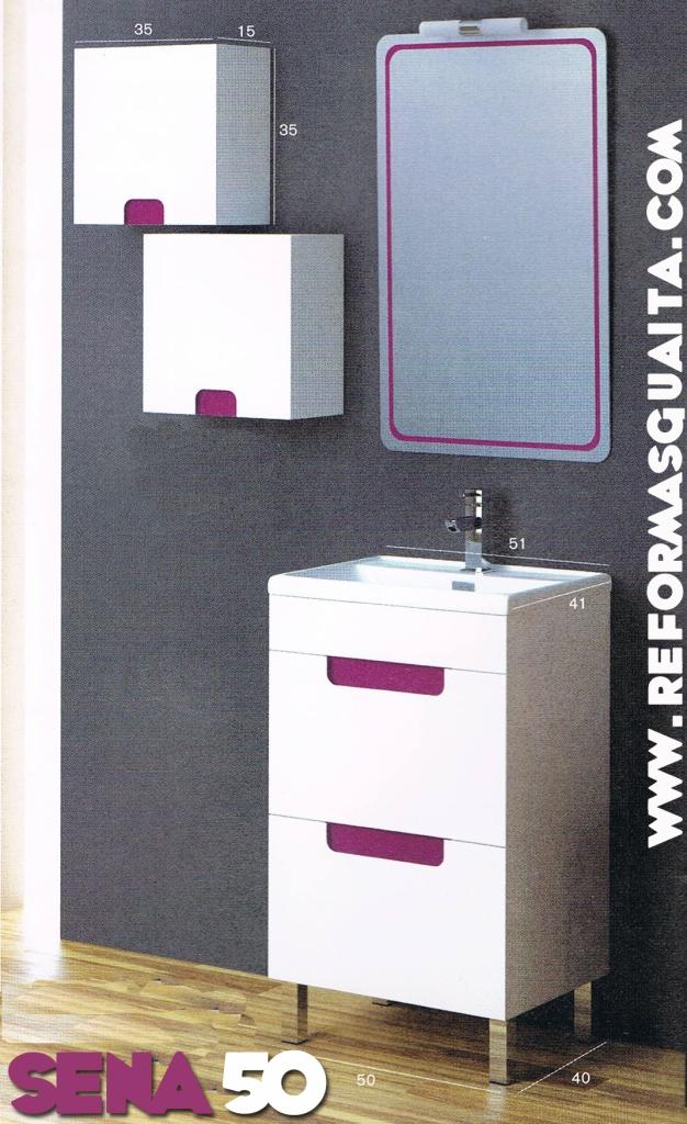 Muebles ba o medidas reducidas for Mueble lavabo 50 ancho