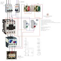 arranque directo motor trifasico proteccion rele termico mando pulsadores marcha paro