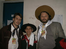 Ao lado de Gustavo Oliveira e Leandro Berlesi na 31ª Coxilha Nativista