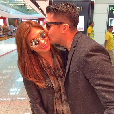 Angel Locsin and Luis Manzano sweet kiss in Dubai