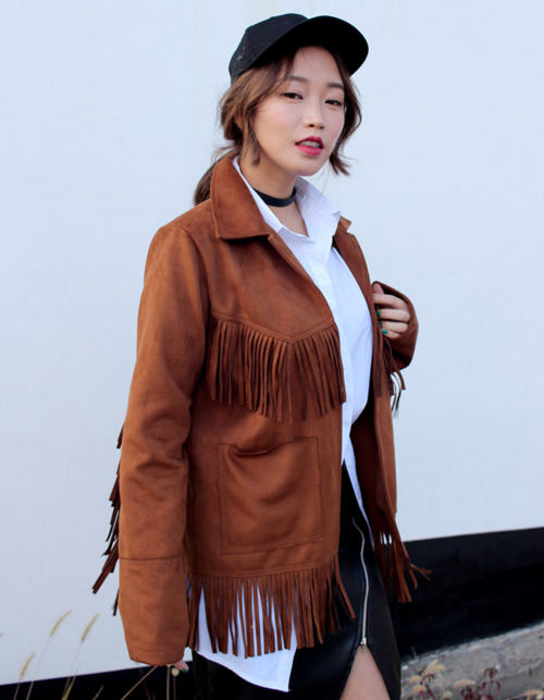 Fringed Open Jacket