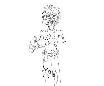 #14 Zombie Coloring Page