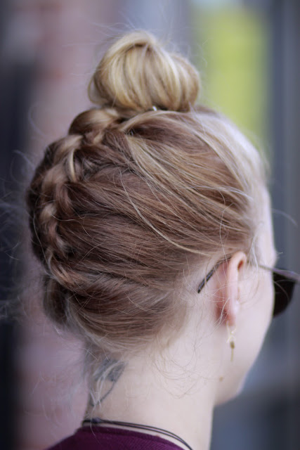 Seattle Street Style Fashion Kaleidoscope Vision Upside Down French Braid
