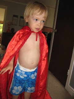Maximilian as Little Red Riding Hood