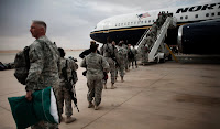 Troops from Joint Base Balad left Iraq last Tuesday for the United States.