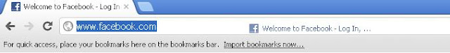 Add First Bookmark in Google Chrome Bookmark Toolbar