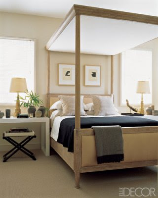 A blind pash interiors bed canopy 39 s for Elle decor beds