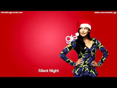 glee cast silent night cover