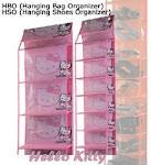 Rak Tas dan Rak Sepatu Karakter Hello Kitty Pink