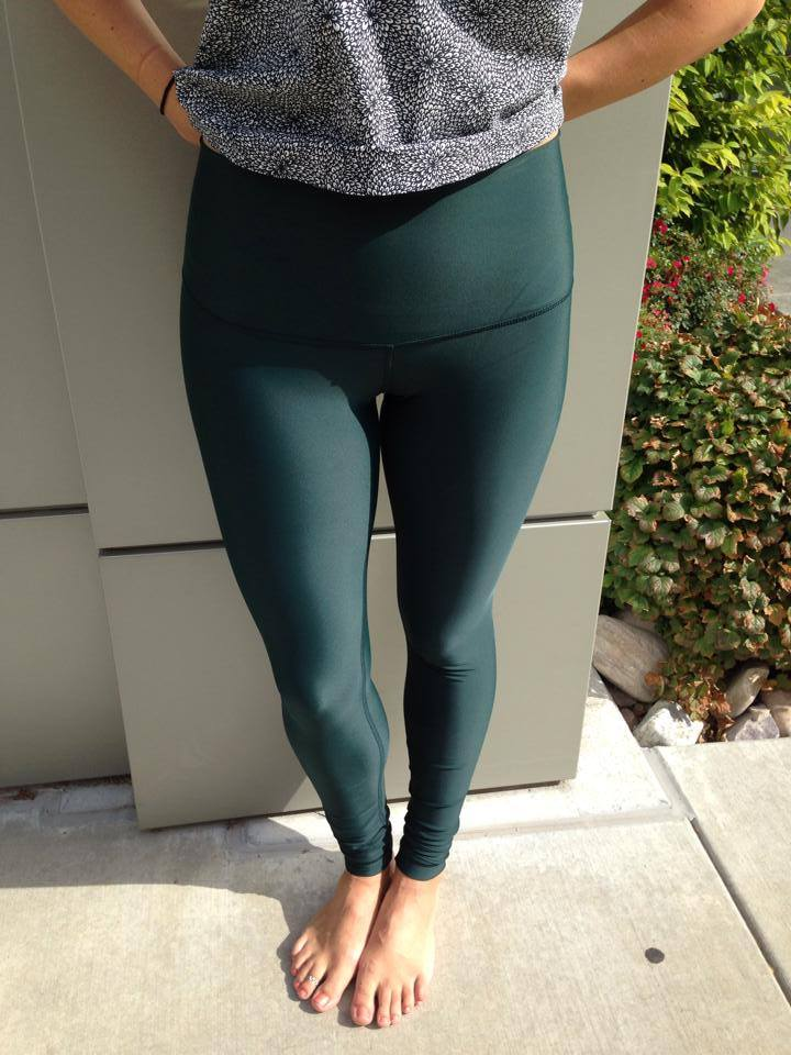 lululemon fuel green shine tight