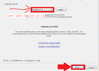 Konfigurasi Bahasa PCSX2