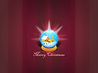Free Download Merry Christmas Ball Wallpaper