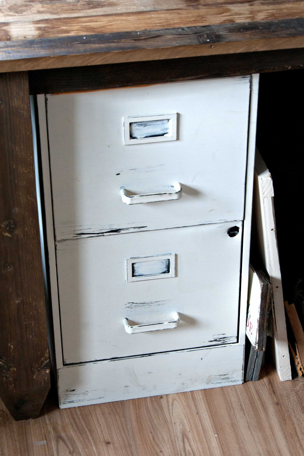 File Cabinet Paint Practically Free Office Desk Part 2 Averie Lane Practically