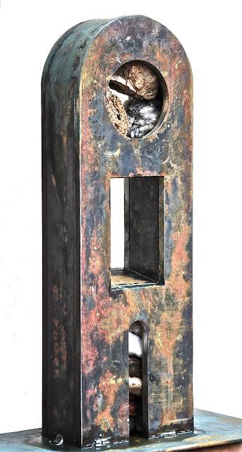 """Escultura Emilio Gallego, artista visual, escultor, memorial guerrilla, """"combatientes por la libertad"""""""