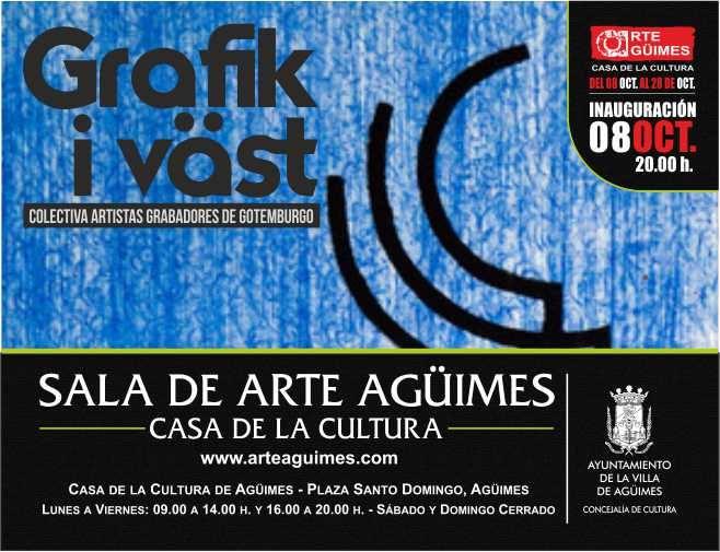"""""""Grafik i Väst"""" en la Sala de Arte Agüimes"""
