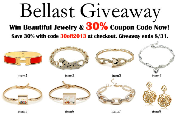 Win International Giveaway of Bellast Jewellery