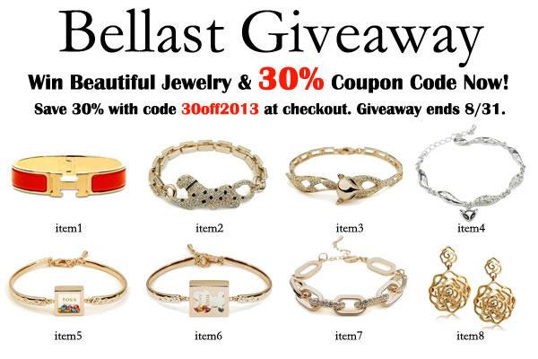 Win International Giveaway of Bellast Jewellery