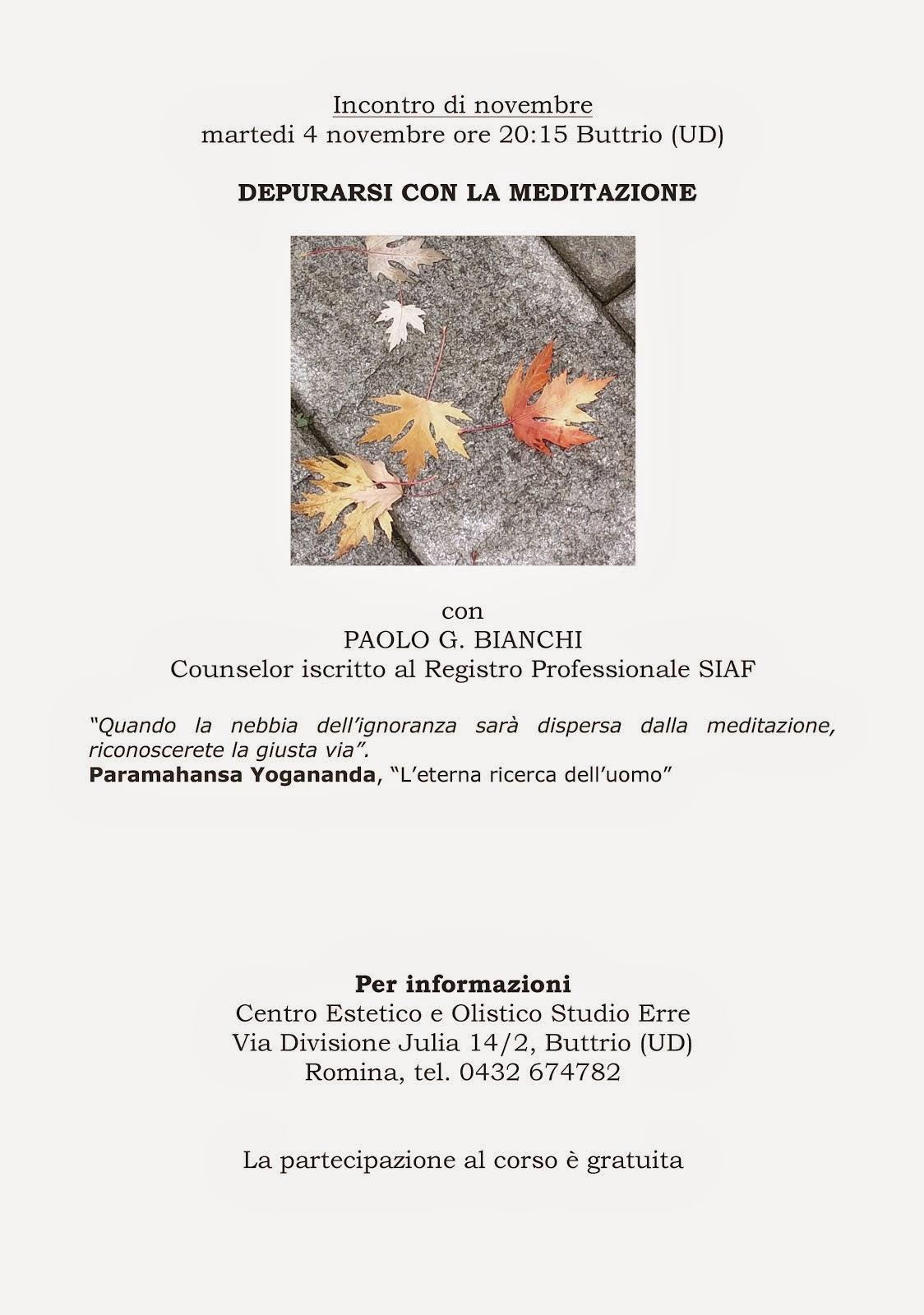 EVENTI: MEDITAZIONE A BUTTRIO (UD)