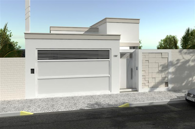 Fachadas de casas e muros veja modelos e dicas decor - Tipos de fachadas ...