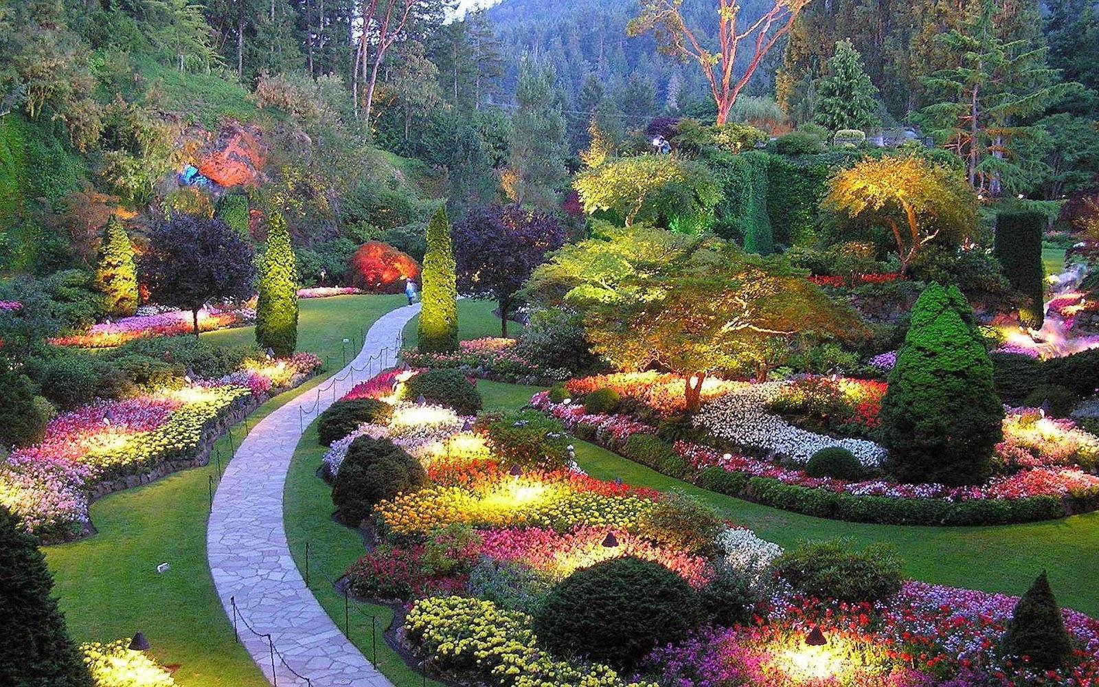 imagens jardins lindos : imagens jardins lindos:OS JARDINS DE BUTCHART – UM DOS JARDINS MAIS LINDOS DO MUNDO